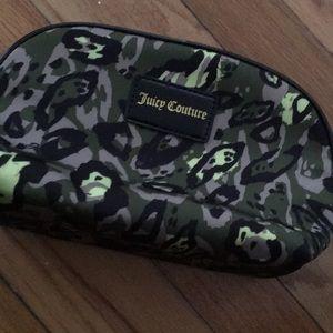 Juicy couture pink lined cameo makeup bag